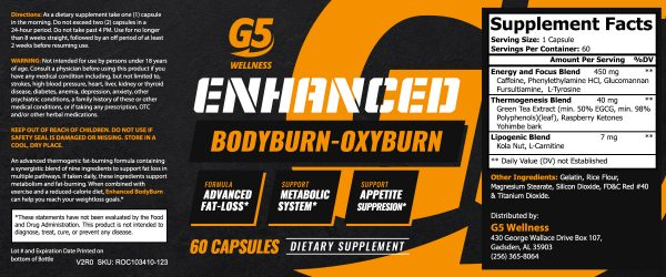 BodyBurn Label
