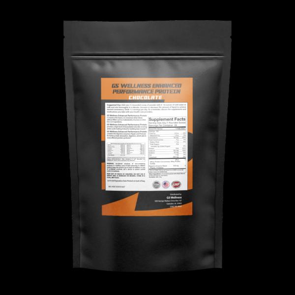 G5 Wellness Chocolate Protein Powder Back Label