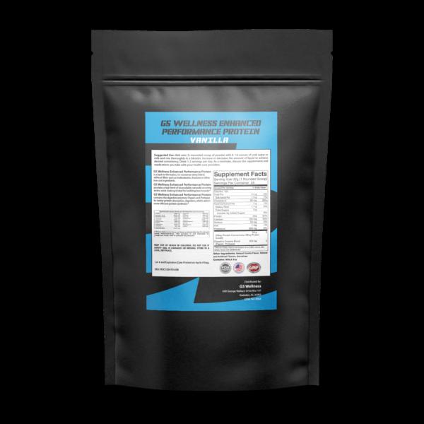 G5 Wellness Vanilla Protein Powder Back Label