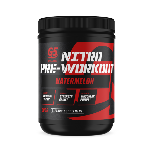 G5 Wellness Nitro Pre-Workout Watermelon Flavor