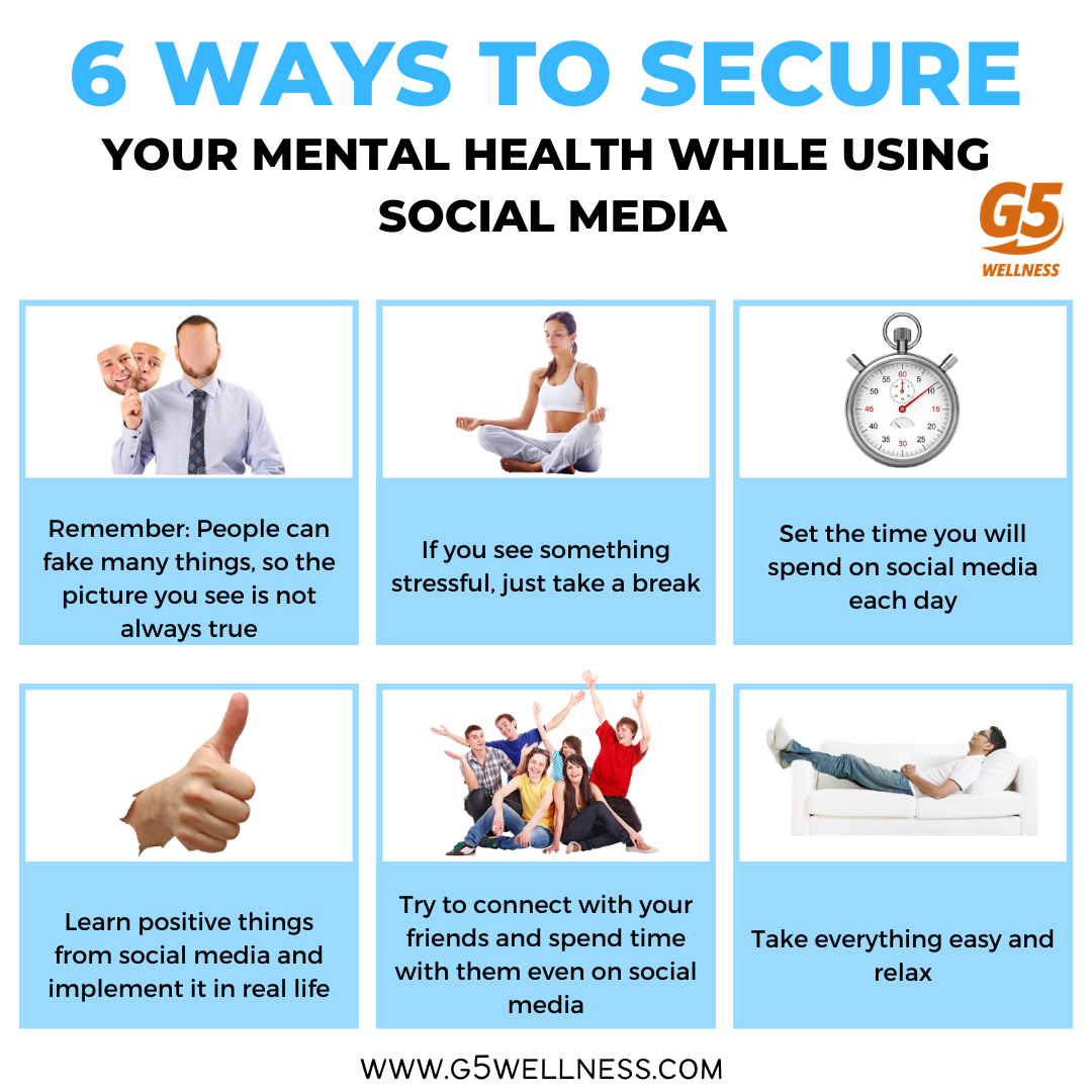 6 Ways to Secure Your Mental Health while using Social Media